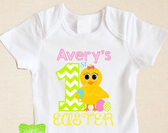 Personalized First Easter Iron On Transfer - Easter Chick Iron On - Easter Iron On Transfer - Easter Easter Decal - EMAILED or SHIPPED