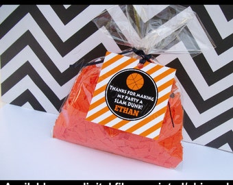 Basketball Favor Tags - Basketball Favor Stickers - Sports Tags - Sports Stickers - Digtal & Printed