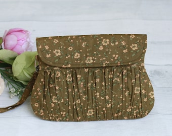 Olive green clutch purse, bridesmaid gift, gift for her, bridal purse, bridal clutch, olive clutch, clutches, bridesmaid gift