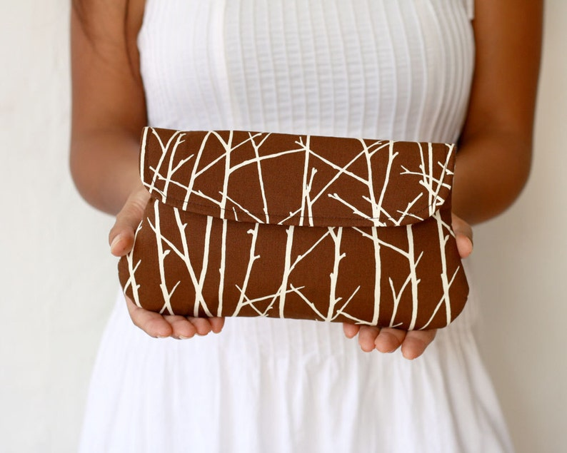 Brown clutch  simple clutch Twiggy in Brown image 0