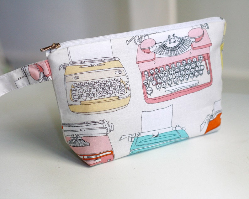 Cosmetic Pouch / Make up pouch retro typewriter image 0