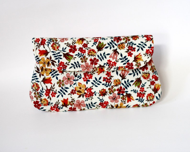 Floral clutch Bridesmaid gift bridesmaid clutches simple image 0