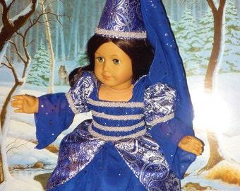 Sparkling Midnight Blue Princess Costume fits American Girl Dolls