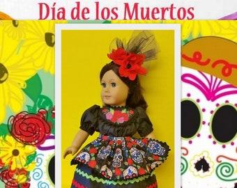 Day of the Dead Fiesta Costume - fits American Girl Doll Josefina