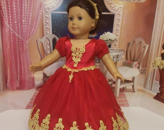 Quinceanera Ball Gown Fits American Girl Doll Josefina