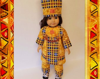 Traditional Cultural African Clothing -  Fits American Girl Doll Melody Edison