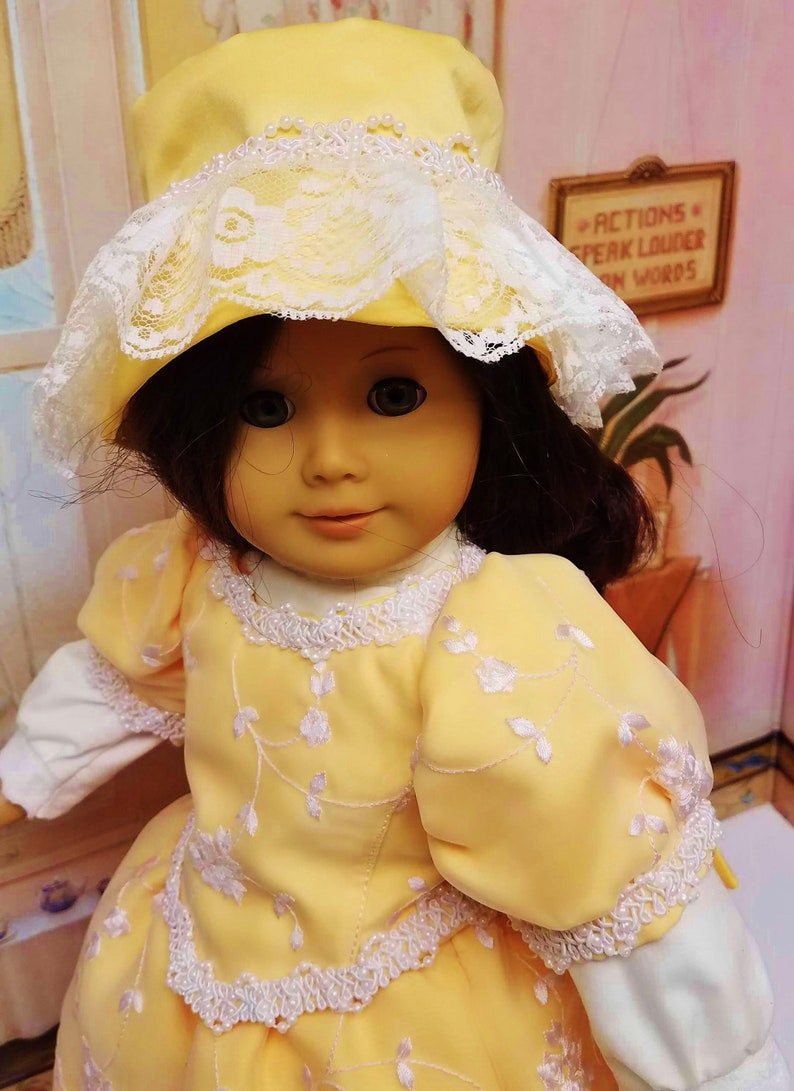 Victorian Satin Dress with Hat Blouse Bloomers  fits image 0