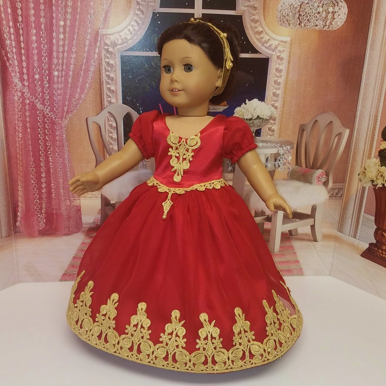 Quinceanera Ball Gown Fits American Girl Doll Josefina image 0