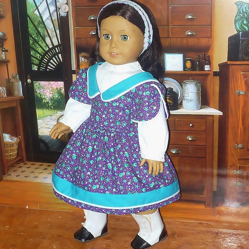 Victorian Style Dress Blouse and Headband fits American Girl image 0