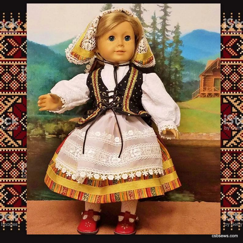 Complete Ukrainian Folk Dance Costume fits American Girl Dolls image 0