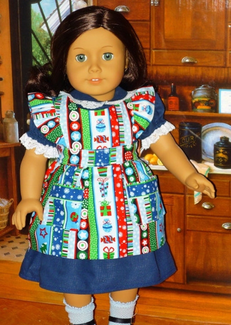 Christmas Dress and Apron for American Girl Dolls Kit Ruthie image 0