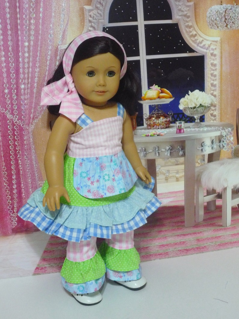 Mixed Print Doll Clothes  Pants and Top Fits American Girl image 0