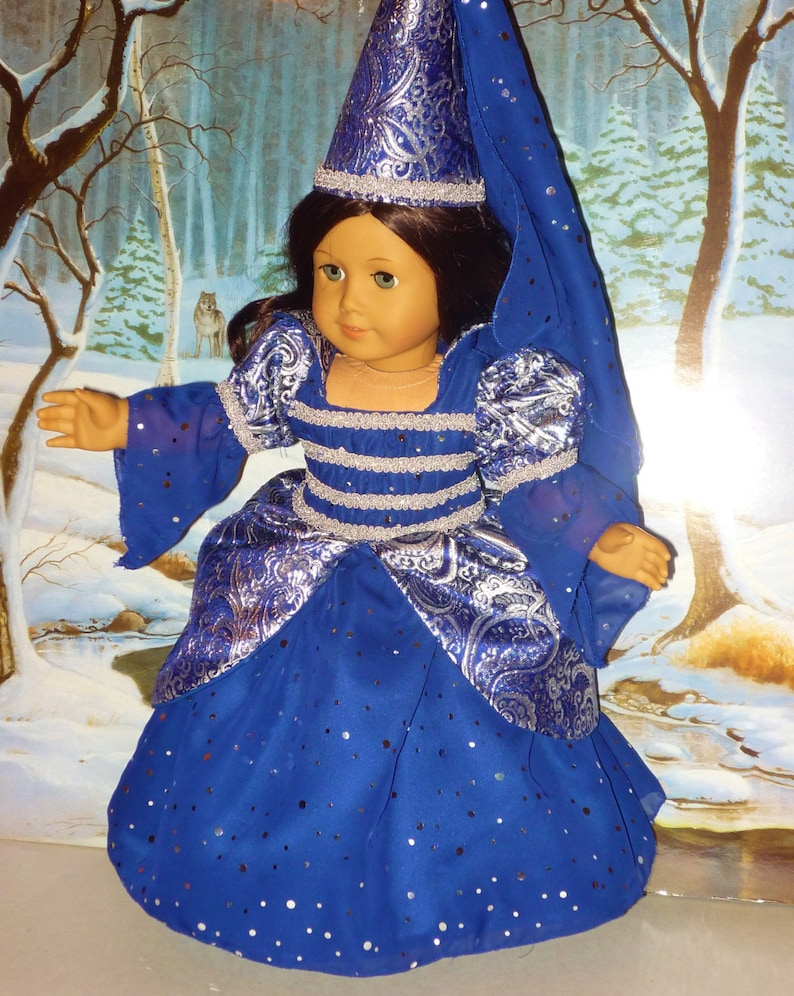Sparkling Midnight Blue Princess Costume fits American Girl image 0