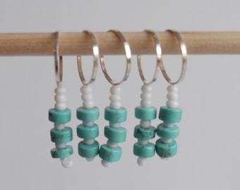 Stitch markers set of 5 turquoise