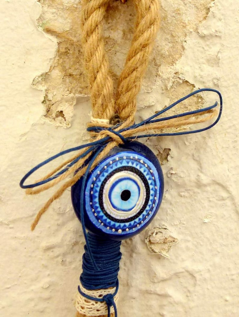 Wall Decor Free Shipping Easter Gifts Nursery Decor Lucky Charm Home decor Hanging Decorations Blue Eye Charm Vintage Ornament