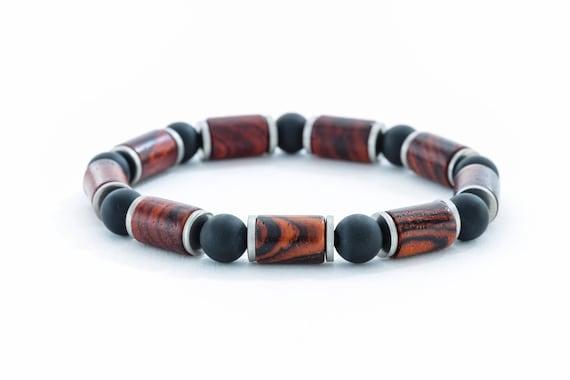 Bracelet homme cocobolo perles en bois de koa hawaïenne etsy