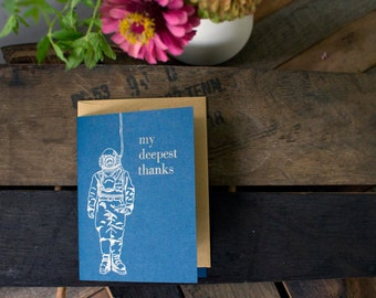 My Deepest Thanks Letterpress Thank You Card