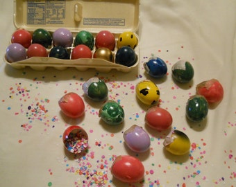 CASCARONES, Confetti Eggs 6 Dozen - Fiesta, Party, Easter Eggs FUN