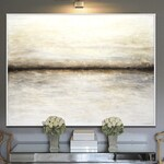 Large original abstract art painting textured painting neutral contemporary oil painting artwork palette knife by L.Beiboer