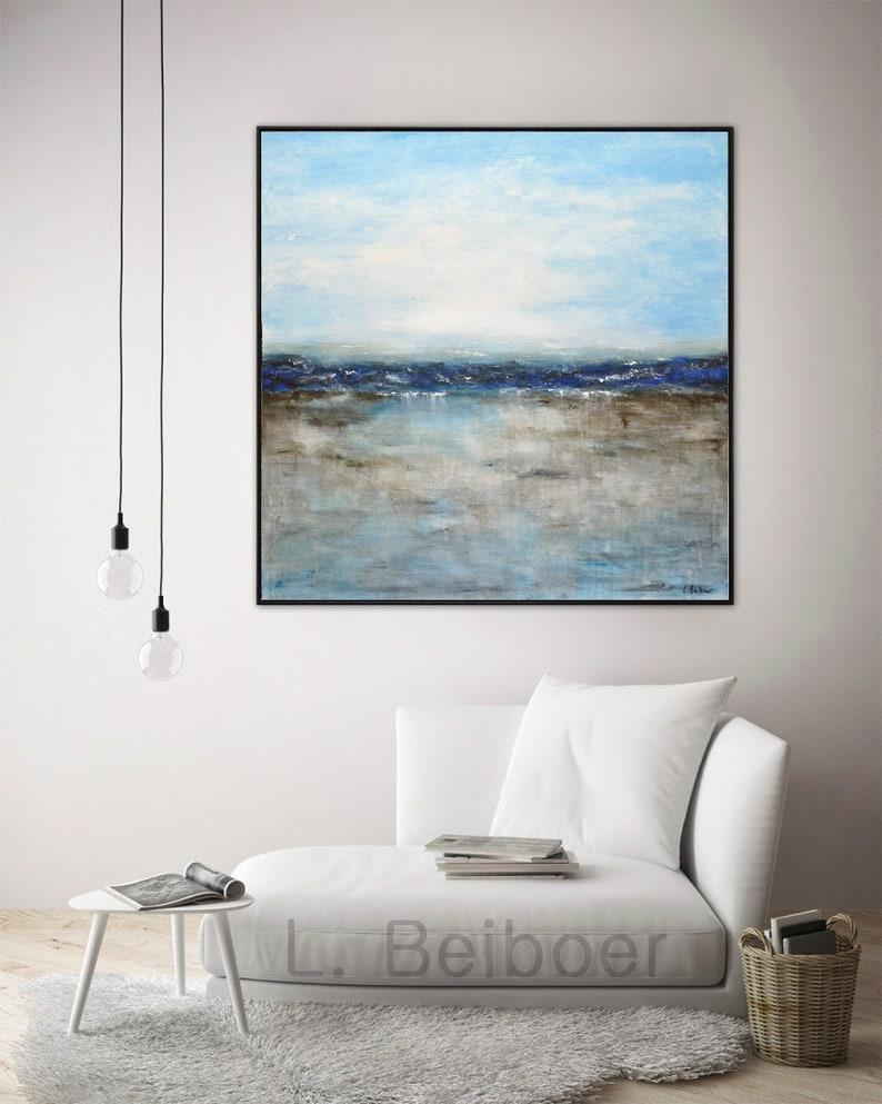 Landscape painting original large painting 36x36 square image 0