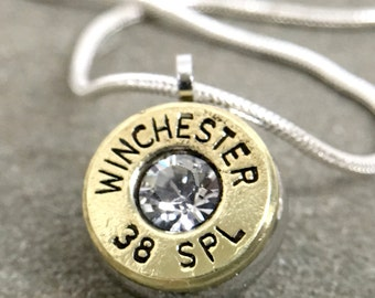 Bullet Casing Necklace 38 Special