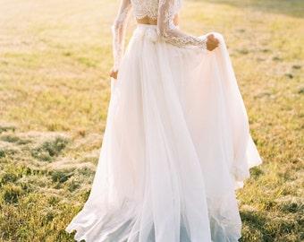 "Wedding Separate - Florence Skirt - Chiffon - 10"" Train"