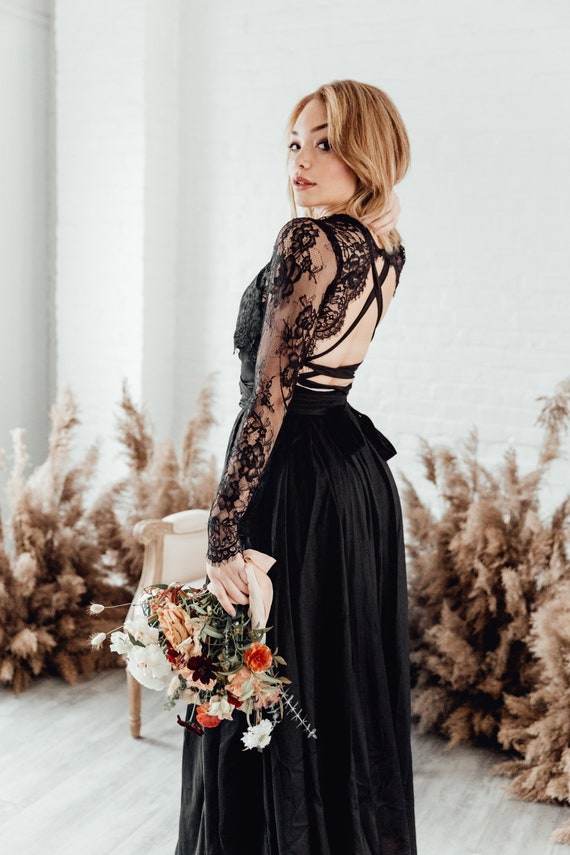 Rosalyn Topper Wedding Separates Lace Topper Dress Topper Wedding Dress Topper Long Sleeve Lace Top
