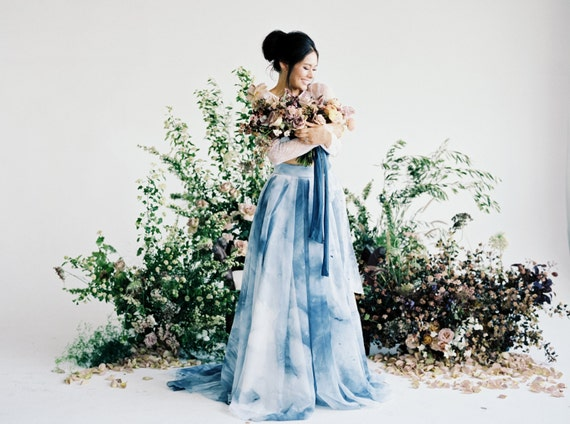 K'Mich Weddings - wedding planning - hand painted - tennyson skirt