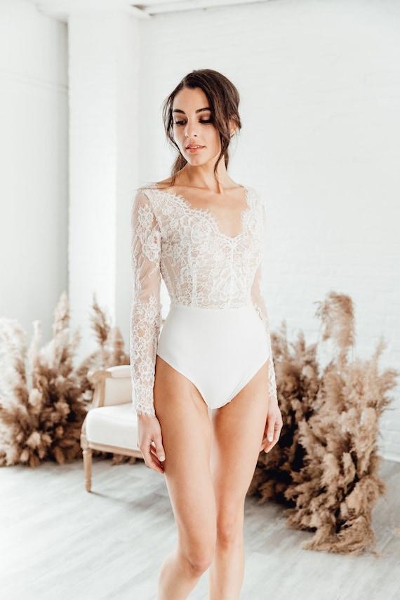 Custom Long Sleeve Lace Up Bodysuit