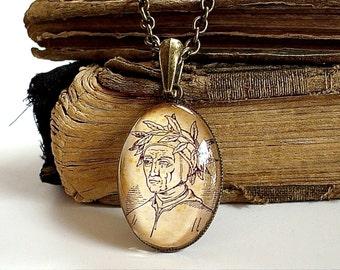 Dante Necklace - Durante degli Alighieri in Bronze or Silver