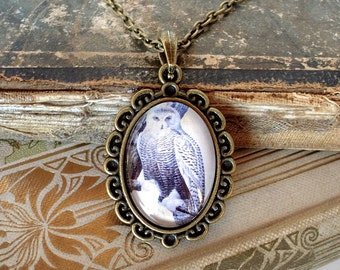 SALE - Snowy Owl Necklace