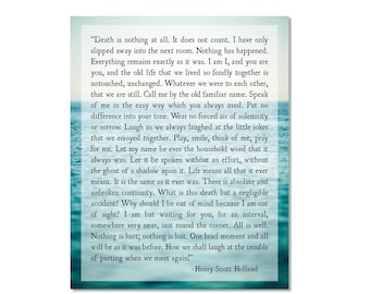 Death is Nothing at All, Henry Scott Holland Quote, Ocean Art Print, Death Dying Quote, Death is Nothing Quote, Oak Leaf, Fine Art Print