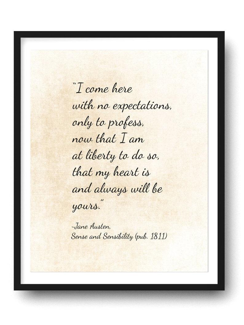 Jane Austen Art Print Sense Sensibility Quote Jane Austen Etsy