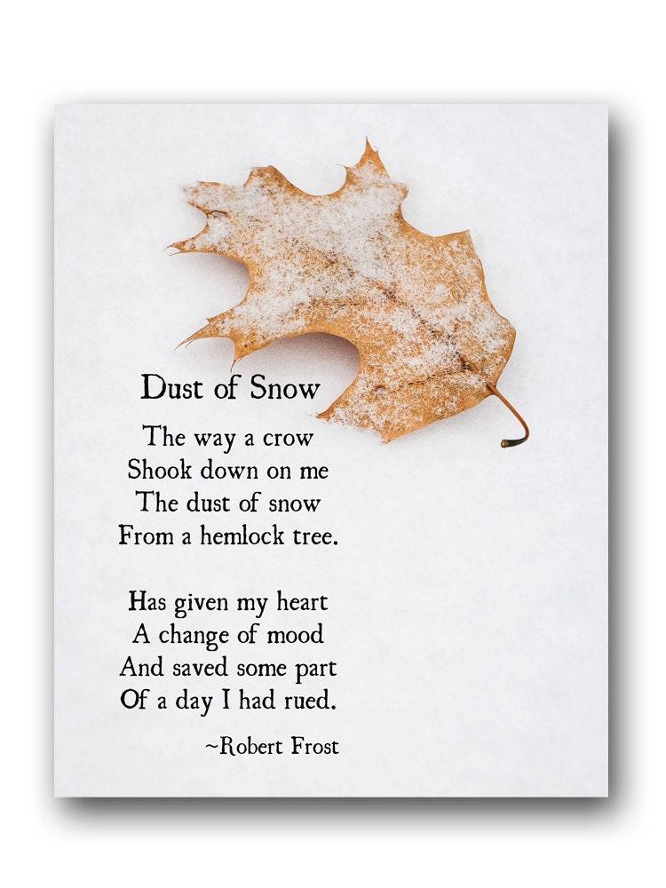 Robert Frost-Poesie-Kunstdruck Staub Schnee Winter Gedicht | Etsy