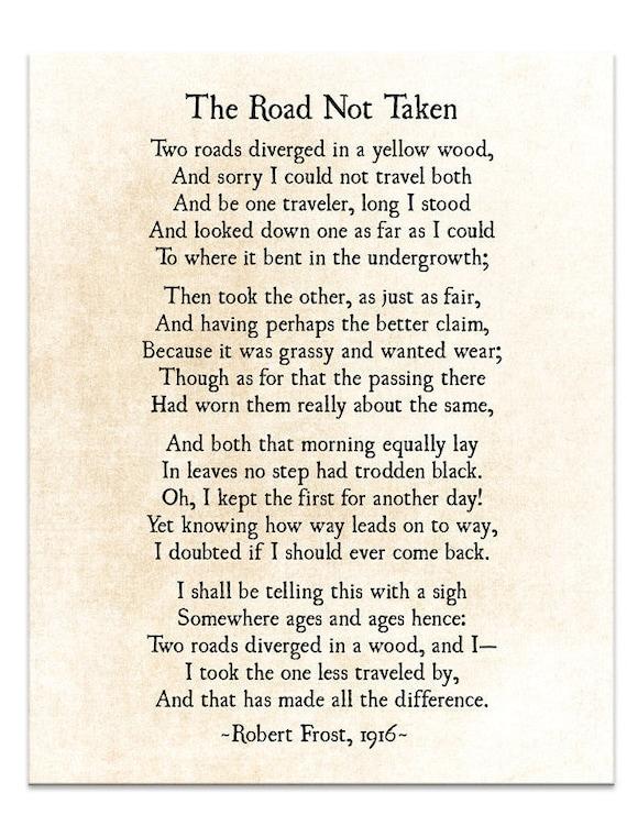 robert frost romantic poems