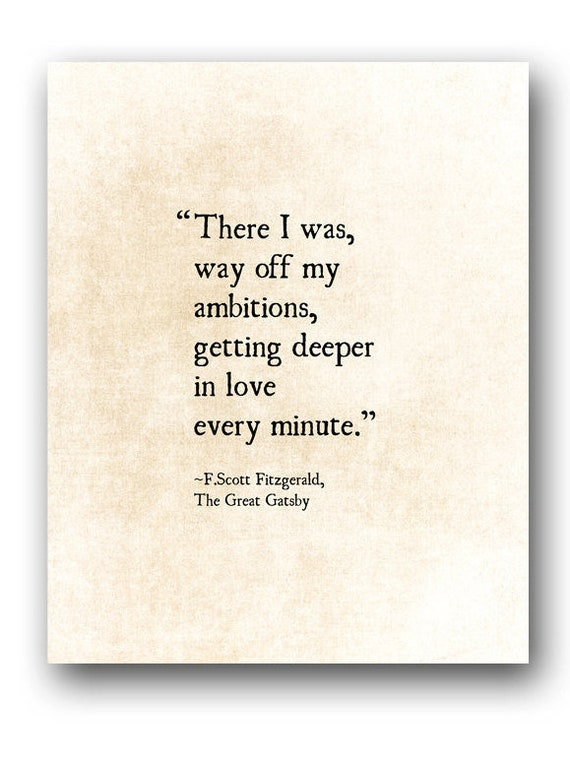 F Scott Fitzgerald Love Quote Print Literary Art Print Etsy