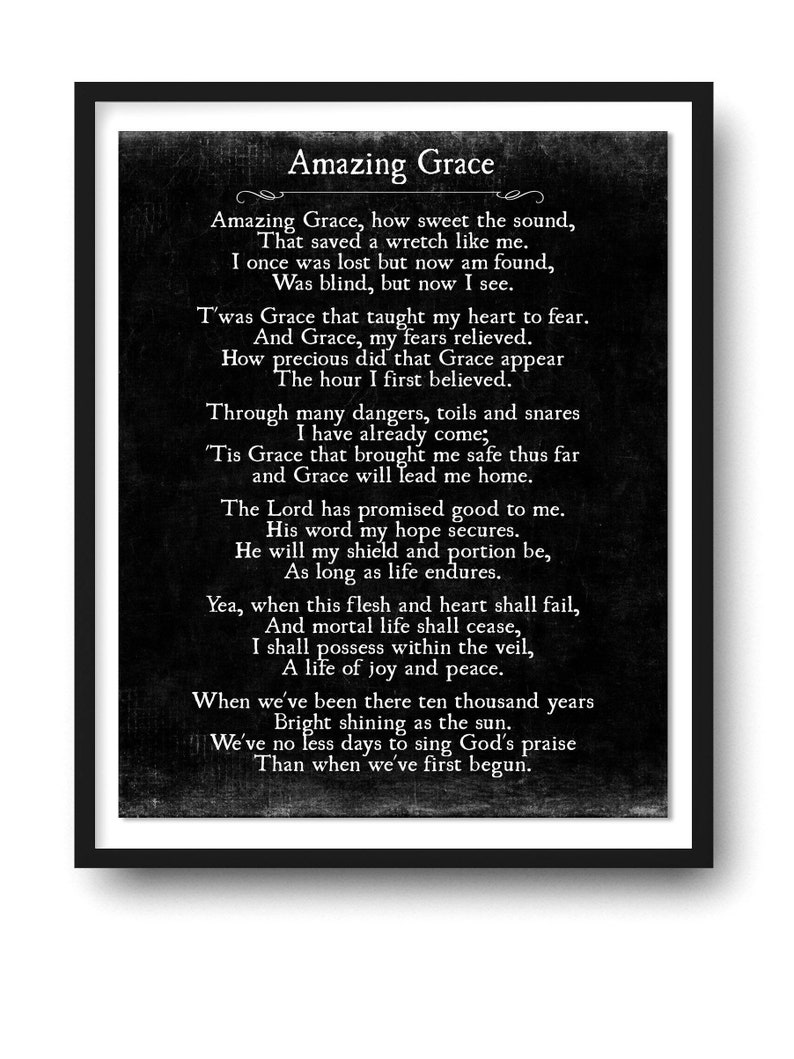 Fan image in amazing grace lyrics printable