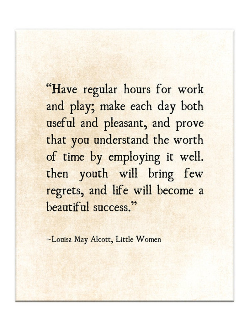Louisa May Alcott Quote Little Women Quote Graduation Grad Etsy