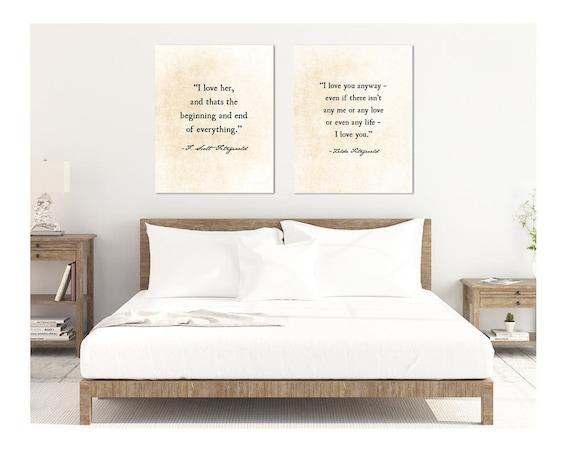 F Scott Fitzgerald Quote Zelda Fitzgerald Quote Valentines Etsy