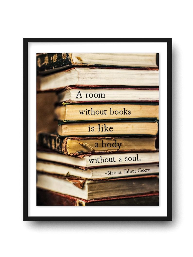 Citaten Cicero : Een kamer zonder boeken citaat art print cicero citaat etsy