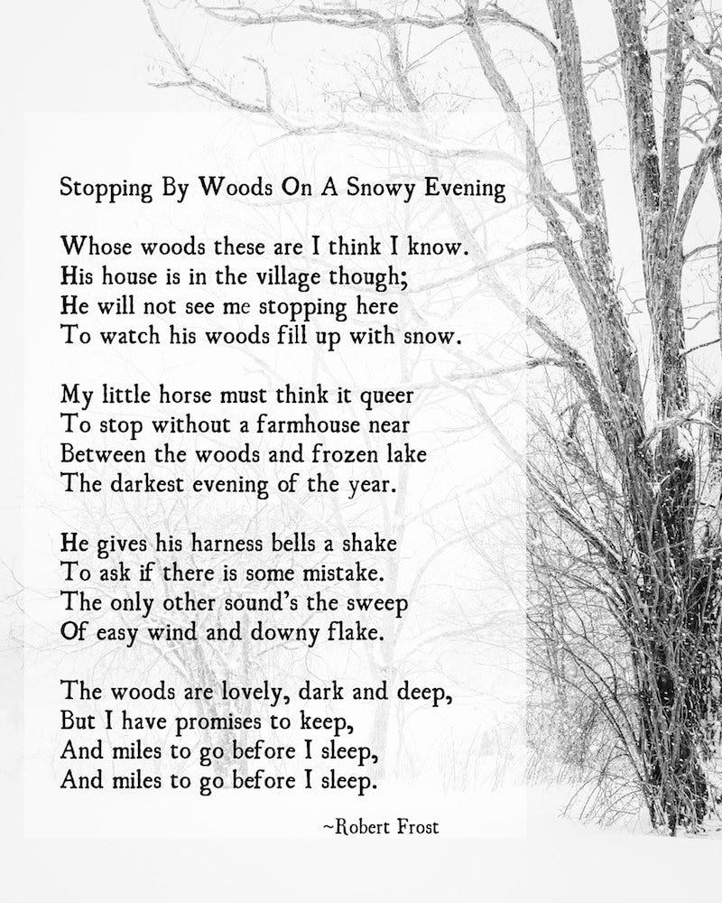 Wald Robert Frost Poesie Kunstdruck Besuch verspricht | Etsy