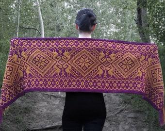 "Knitting pattern: Wrap or shawl (""Vigil"") (PDF)"