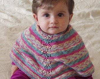 "Knitting pattern: Poncho (""Leafy Baby""), baby and toddler sizes (PDF)"