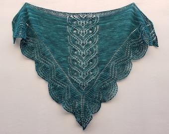 """Knitting pattern: Shawl (""""Minerva)"""" (PDF)"""