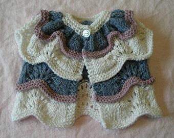"Knitting pattern: Cardigan (""Parfait""), baby, toddler, and child sizes (PDF)"