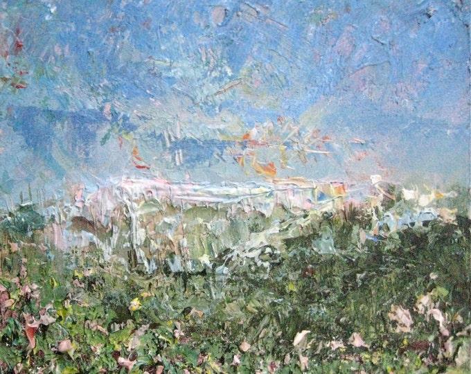 "Abstract Landscape 12""x12""x1.5"" Acrylic on Canvas"