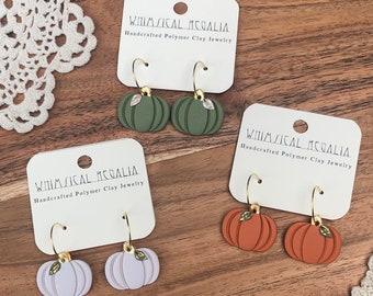 Polymer Clay Pumpkin Earrings