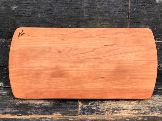 Handmade cutting board made from cherry woods