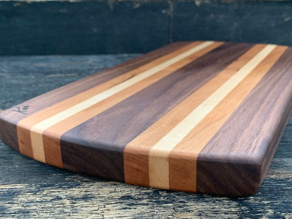 Cheese Board made from walnut, cherry and maple woods