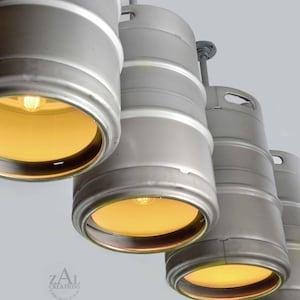 Beer Keg Light Keg Lighting Pendant Light Stainless Steel Etsy